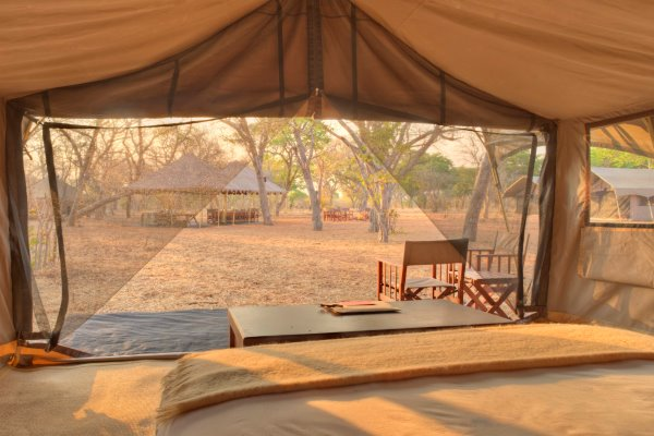 Tented accommodation at Chobe Under Canvas