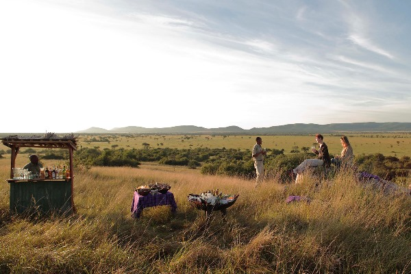 Sundowners at Grumeti Serengeti Tented Camp