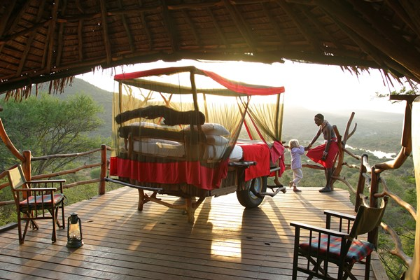 Bed with a view. Star beds at Losiaba