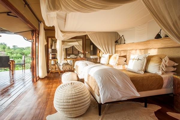 Luxurious accommodation at Mwiba Lodge