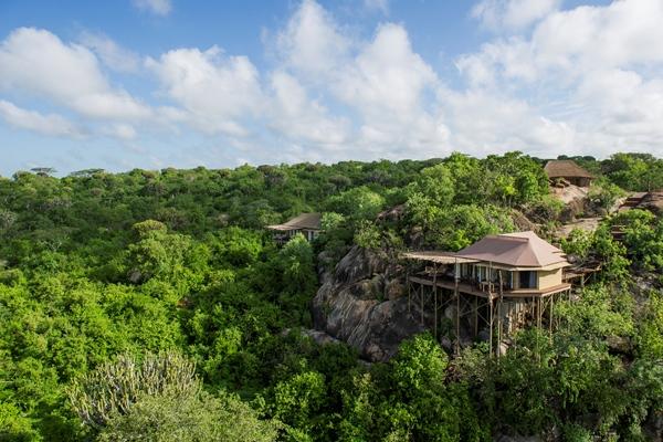 Mwiba Lodge, tucked sympathetically into its surroundings