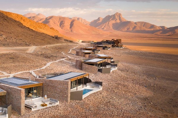Sossusvlei Dune Lodge in it's magnificent setting
