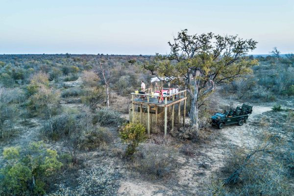 Star bed at Tanda Tula, a great way to enjoy the wilderness