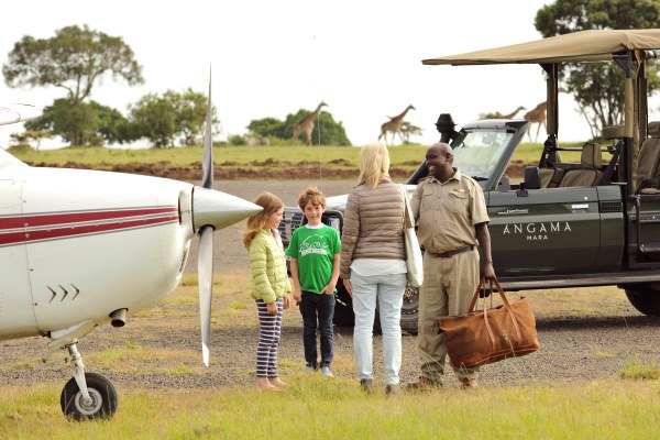 Travel can be part of the fun, particularly light aircraft flights. Angama Mara