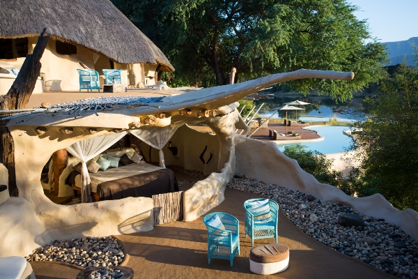 The quirky, but fabulous, Chongwe River House on the Chongwe River, Zambia.