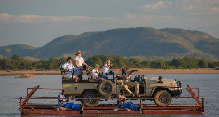 active family safaris Family on a river crossing in Zambia
