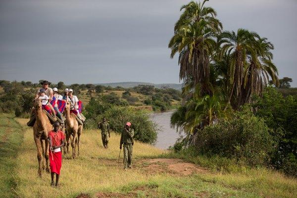 Camel safari at Loisaba Tented Camp