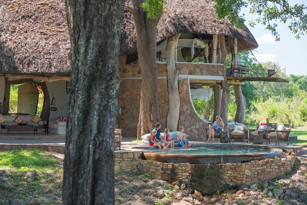 Relaxing between safari activities at Luangwa House in the South Luangwa, Zambia.
