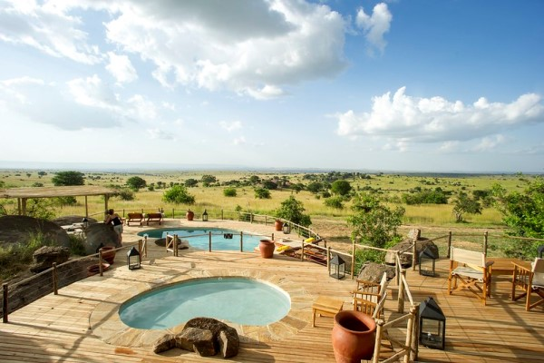 Enjoying the view at Mkombe's House in the Serengeti.