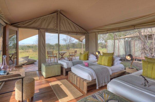 Family safari tent at Sayari Camp