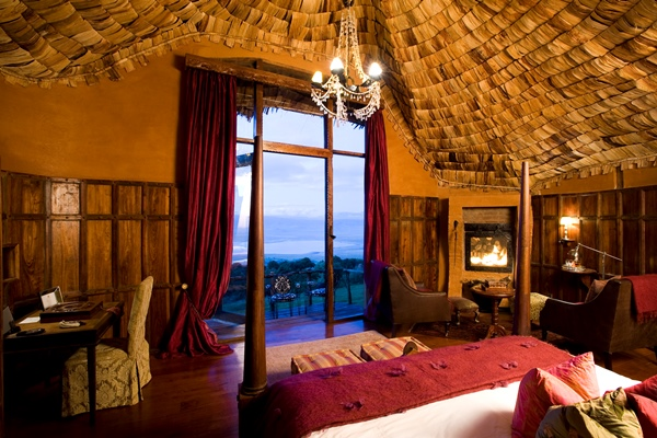 Opulence on the edge of the crater at Ngorongoro Crater Lodge