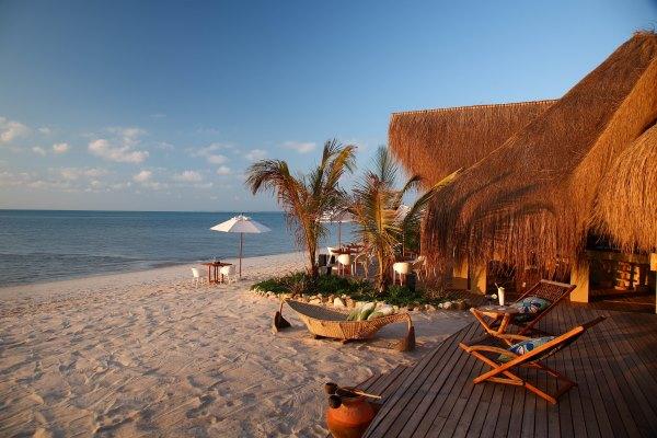 Beachfront setting at Azura Benguerra