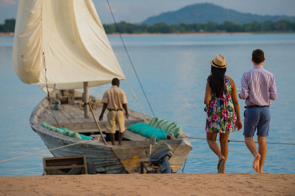 Sundowner dhow cruise at Pumulani