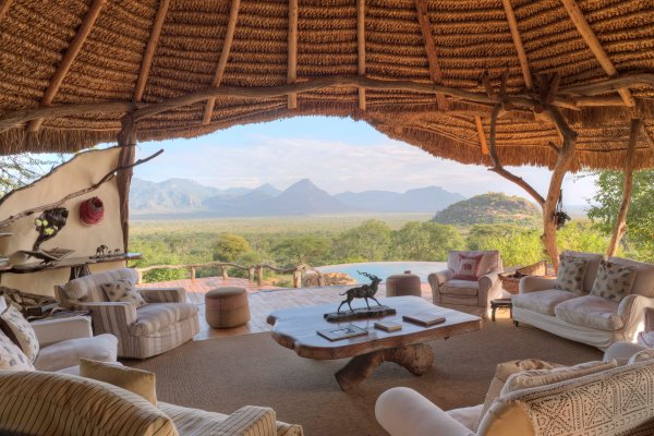 Glorious views over the wilderness at Sarara Camp
