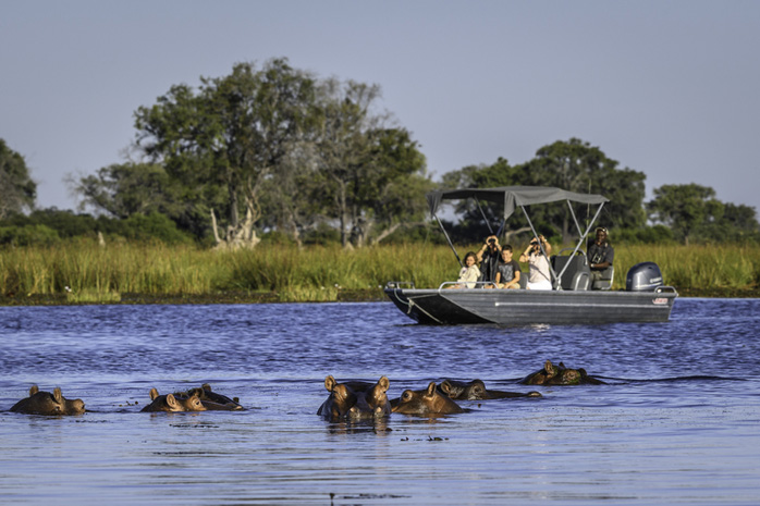 Boating at Little Vumbura Okavango Delta