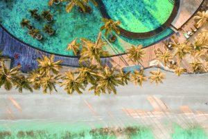 Pool and beach at Trou Aux Biches